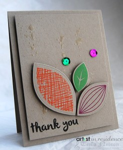 VersaColor Leaves Thank You Card