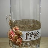 Embellished Hurricane Vase