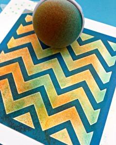 Kaleidacolor sponge on color