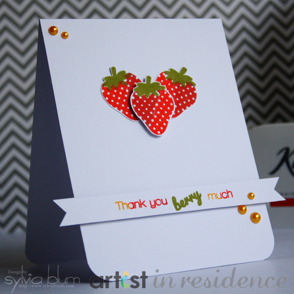 Kaleidacolor thank you card imagine blog for Imagine crafts craft mat