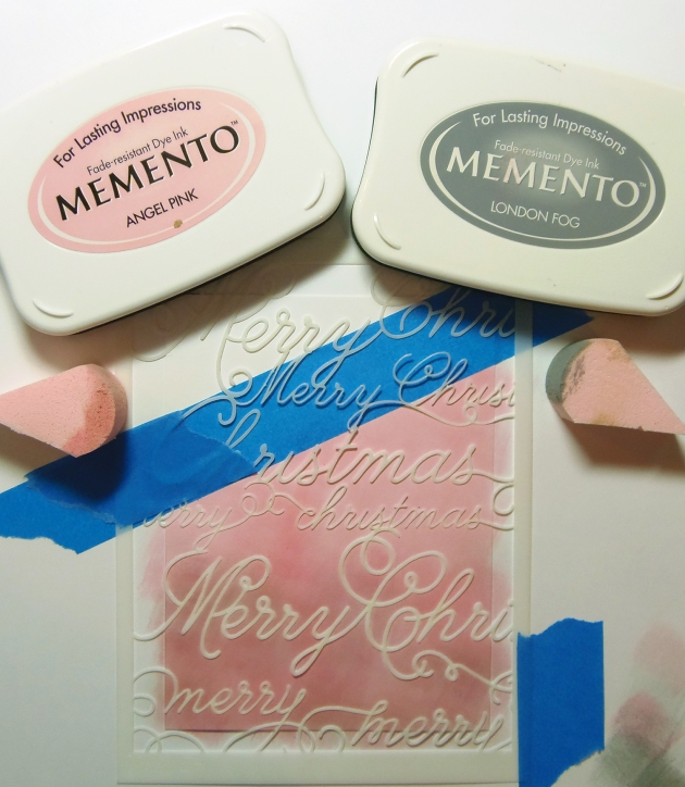 Memento Inks in Angel Pink and London Fog
