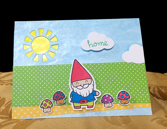 "Gnome ""Home"" Card"