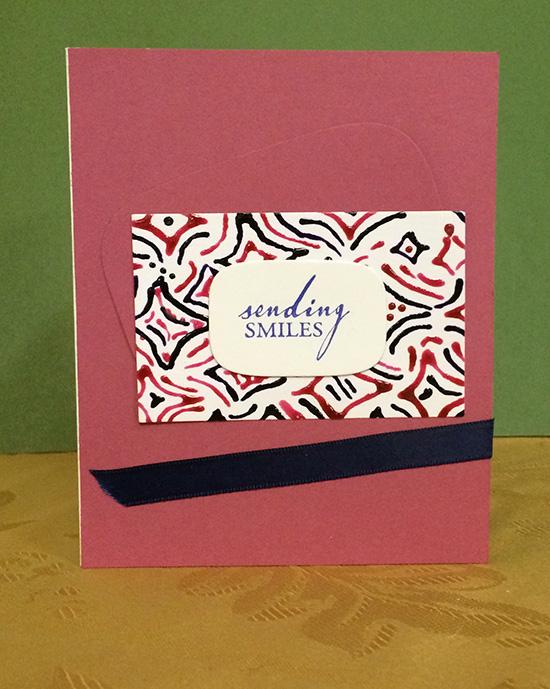 "Doodle card - ""Sending Smiles"""