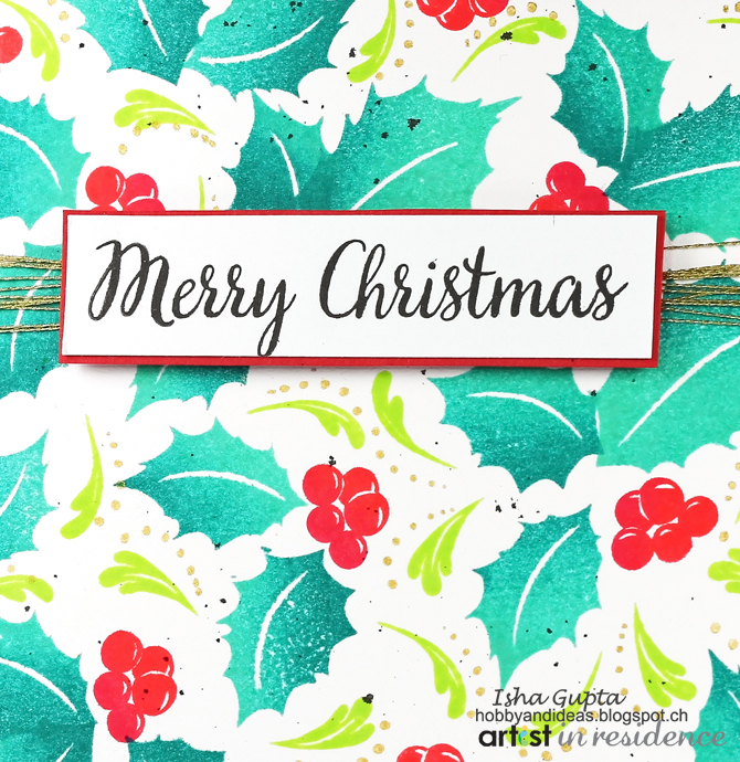 A colorful christmas card tutorial imagine for Imagine crafts craft mat