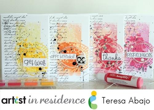 Teresa - Neon Mixed Media Cards photo