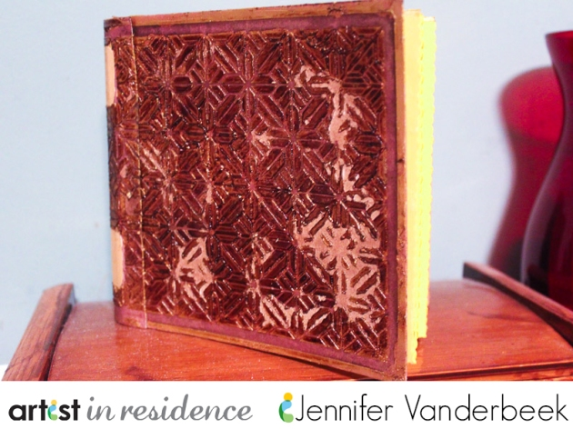 A handmade aged book by Jennifer Vanderbeek