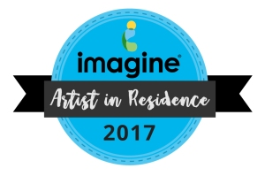 Imagine Artist in Residence 2017 badge graphic
