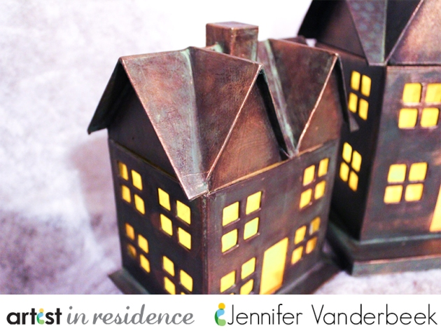 jvanderbeek_imaginecrafts_fauxmetal_papermache_houses_detail