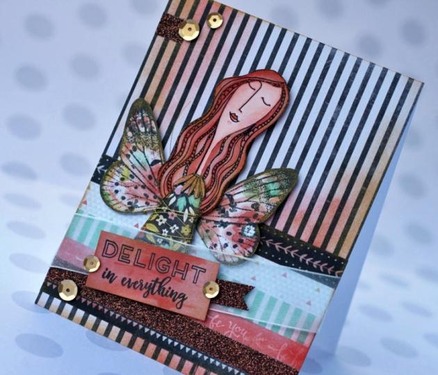 Mischelle Smith creates a wintergreen Delight card with Delicata – White Shimmer, Silver Shimmer, Golden Glitz Memento - Morocco VersaMark VersaFine – Onyx Black Sponge Daubers