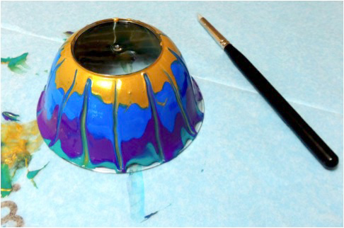 Imagine artist Renee Karate dazzles with Faux Millefiori Votive Holders made with StazOn Studio Glaze.
