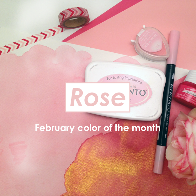 imagine's color of the month for February 2017 is Rose