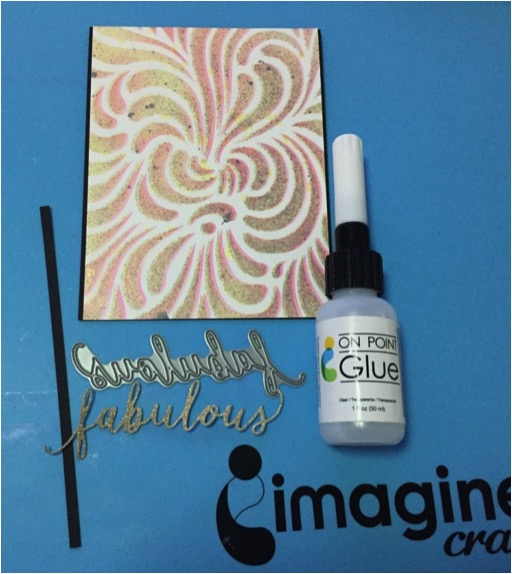 Fabulous Shades Of Fireworks by Martha Lucia Gomez. On Point Glue is a great fine point glue for embellishments.