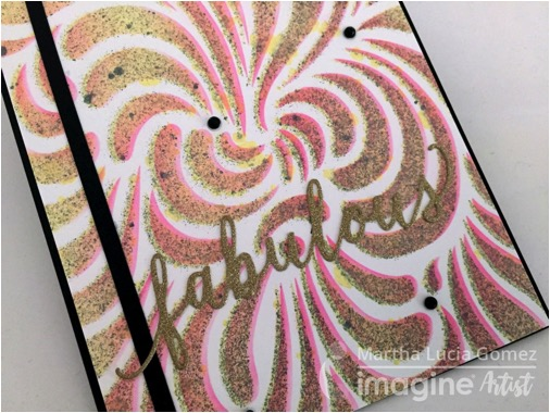 Fabulous Shades Of Fireworks by Martha Lucia Gomez. pink, black, gold, fabulous, shimmer effect.