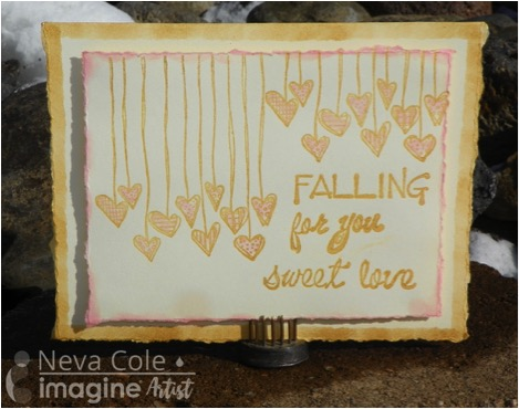 Falling for You greeting card Valentine Card.