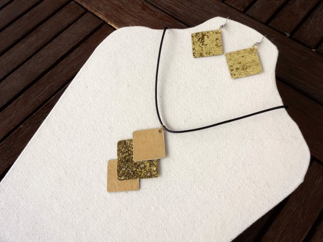 Faux Gold Handcrafted Necklace