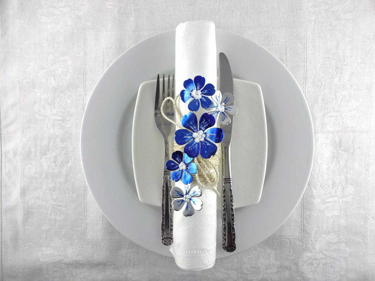 See How To Make Illustrious Lapis Blue Napkin Rings