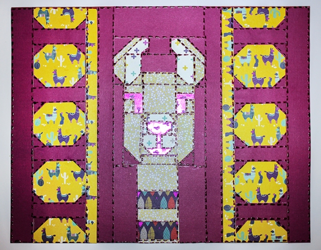 paper quilt llama