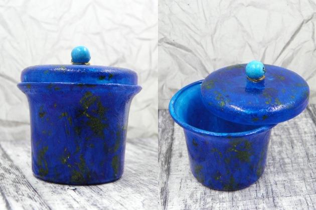 2017 March Lapis Glass Jar with Stazon ink from Tsukineko