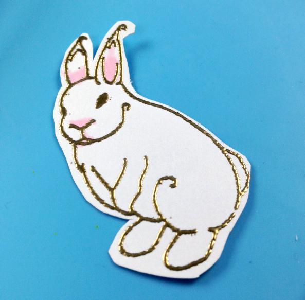 Heat Embossed Easter Bunny