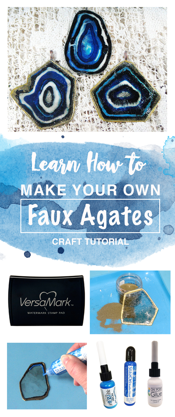 learn how to make your own faux agates craft tutorial.