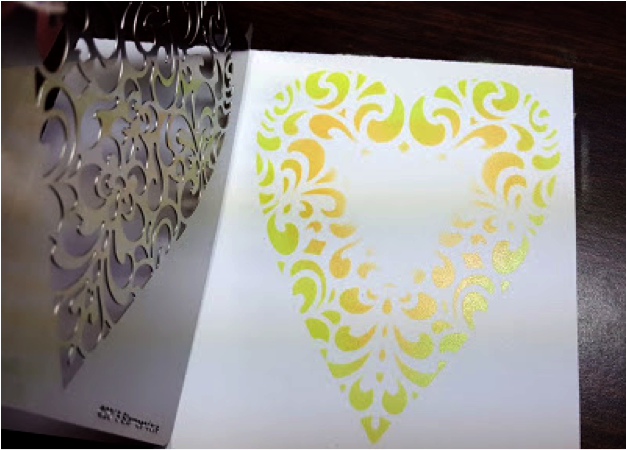 Ornate Heart Metal Stencil- FMS4060