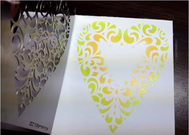 Ornate Heart Metal Stencil- FMS4060