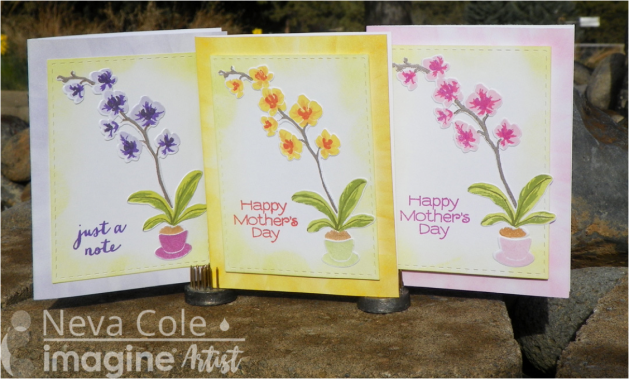color layering stamp and die sets Mother's Day Cards