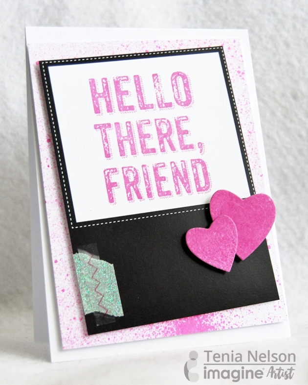 Cute and Simple Magenta Greeting Card Inspiration