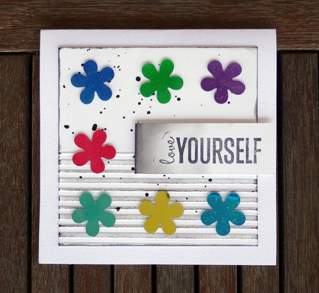 mirror card Love yourself diy handmade card