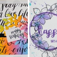 Make a Bright Birthday Card with Ink Blending