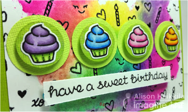cupcake stamps Lawn Fawn