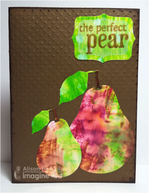 3 Very Different Ways to Use StazOn Ink. the perfect pear card