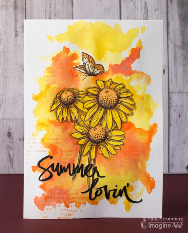 summer lovin art journal page