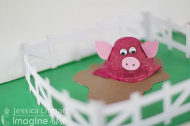 Piggy Farm Crafts for Kids