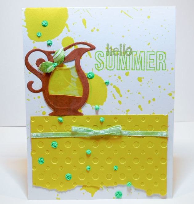hello summer card lemonade