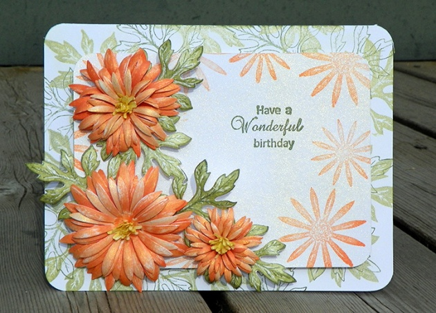 Tangerine Aster Bday Card