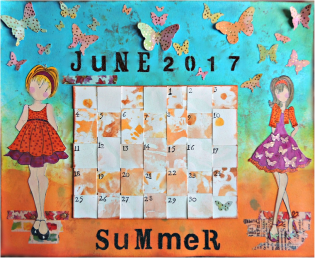 Make a Summer Lovin' Mixed Media Calendar
