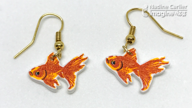Goldfish Earrings by Nadine Carlier (ic)