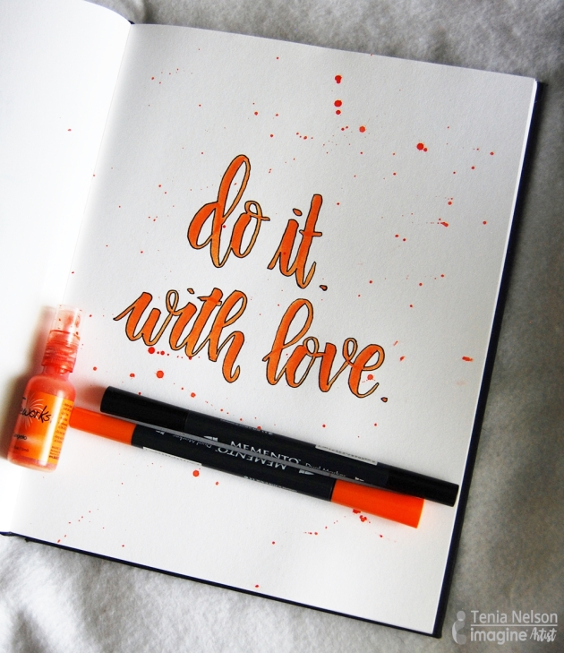 Hand lettering with memento markers