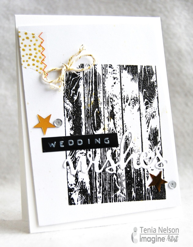 Jazzy Paper Designs with a super fun Wedding theme card made with Imagine and Tsukineko products