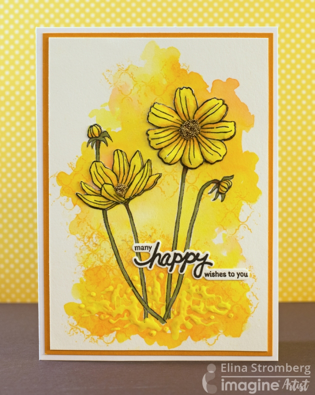 bright yellow handmade card