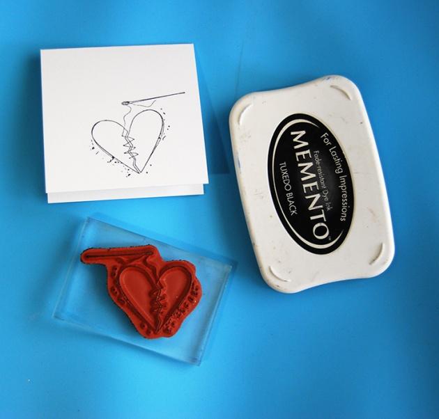 Broken Heart Mini Card by Tenia Nelson