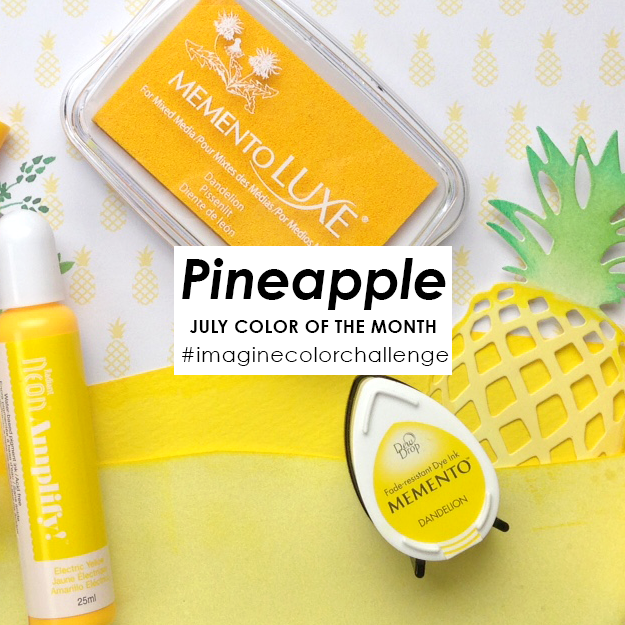 Imagine Color Challenge July 2017 Pineapple