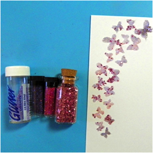 Apply various weights of glitter to Creative Medium