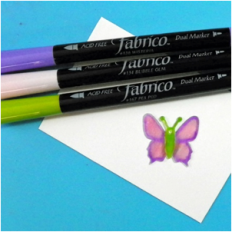 Fabrico Markers in Pea Pod, Bubble Gum, and Wisteria