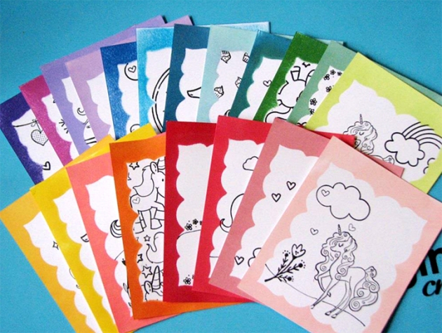 Pages inside a Unicorn Coloring Book