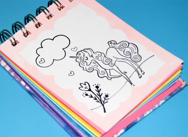 See How to Make Your Own Unicorn Coloring Book