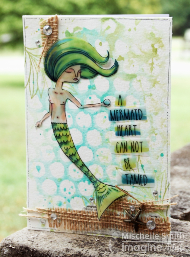 The Mermaid Memento Marker and Vellum Card by Mischelle Smith