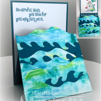 Be Inspired by Trifold and Vellum in these 2 Mermaid Cards