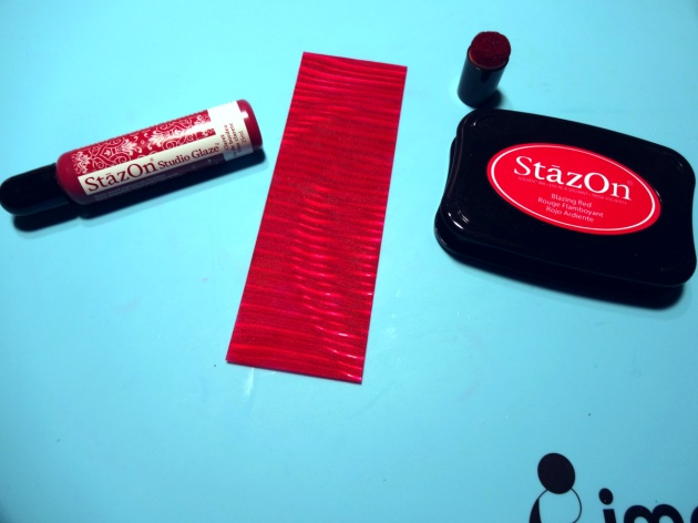 Vertigo Sheet with the StazOn Blazing Red